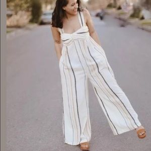 NEW Free People Breezin Through Wide Leg Jumpsuit
